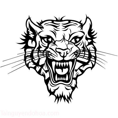 FreeVector-Tiger-Tattoo-Vector-Art