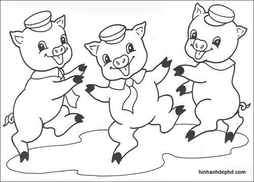 3-chu-heo-con-tranh-to-mau-cho-be