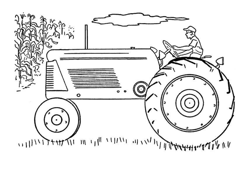 hình xe máy kéo với bánh xe lớn