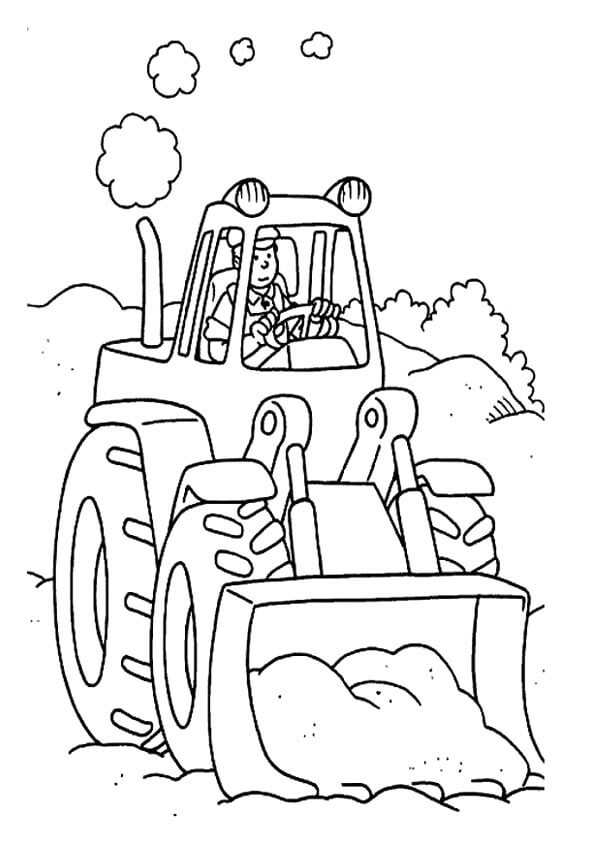 hình ảnh xe xúc đất