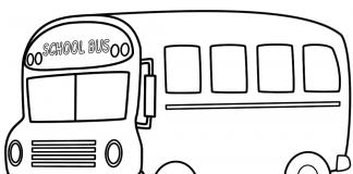 tranh tô màu xe bus
